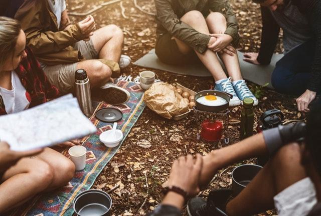 campingtur med venner